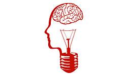 Brain head lightbulb