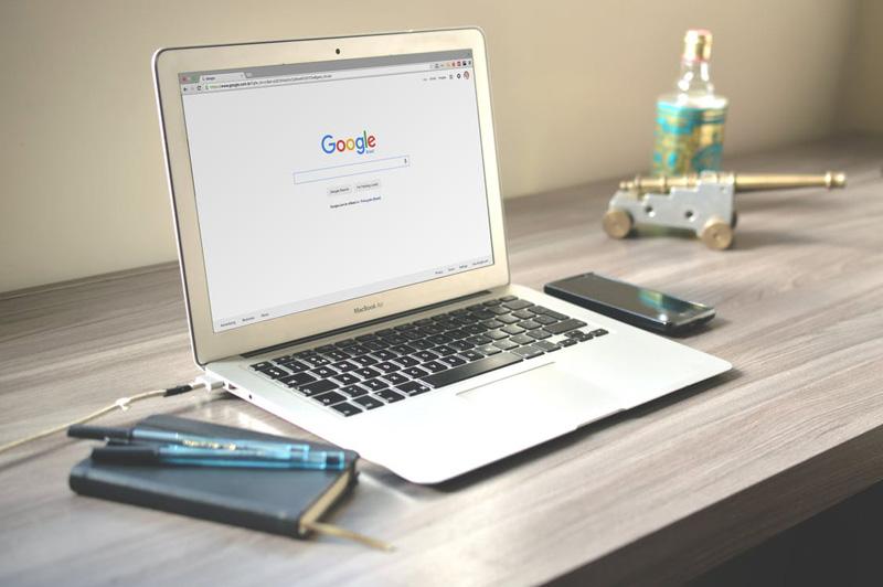 SEO Google on laptop