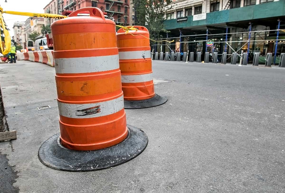 Road construction in Manhattan